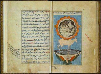Rappresentazione del cosmo secondo Zakariyya al-Qazwini